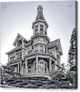 Flavel Victorian Home Acrylic Print by Daniel Hagerman