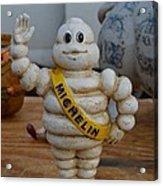 Flea Market Michelin Man Acrylic Print by Helene Dignard