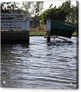 Flooding Of The Streets Of Bangkok Thailand - 01134 Acrylic Print by DC Photographer
