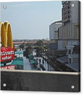 Flooding Of The Streets Of Bangkok Thailand - 01138 Acrylic Print by DC Photographer