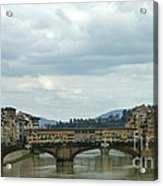 Florence. Ponte Vecchio Acrylic Print by Anna and Sergey