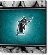 Florida Marlins Acrylic Print by Joe Hamilton