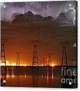 Florida Power And Lightning Acrylic Print by Lynda Dawson-Youngclaus