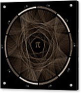 Flow Of Life Flow Of Pi #2 Acrylic Print by Cristian Vasile