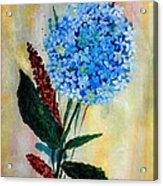 Flower Decor Acrylic Print by Nirdesha Munasinghe