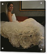 Flower Dress Bride Acrylic Print by Mike Hope