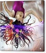 Flower Fire Dream Acrylic Print by Andrew Nourse