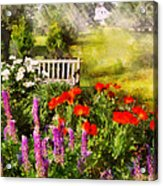 Flower - Poppy - Piece Of Heaven Acrylic Print by Mike Savad
