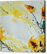 Flower Power- Sunflower Acrylic Print by Ismeta Gruenwald