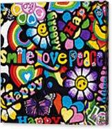 Flower Power Acrylic Print by Tim Gainey