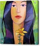 Flower Woman Acrylic Print by Lutz Baar