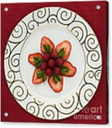 Flowering Fruits Acrylic Print by Anne Gilbert