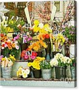 Flowers At The Bi-rite Market In San Francisco  Acrylic Print by Artist and Photographer Laura Wrede