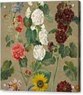 Flowers Acrylic Print by Ferdinand Victor Eugene Delacroix