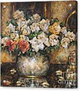 Flowers Of My Heart Acrylic Print by Dariusz Orszulik