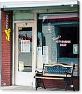 Floyd's Barber Shop Nc Acrylic Print by Bob Pardue
