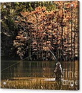 Fly Fishing  Acrylic Print by Tamyra Ayles
