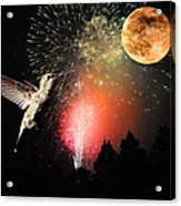 Fly Me To The Moon Acrylic Print by Lynn Bauer