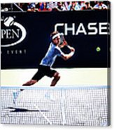 Flying Federer  Acrylic Print by Nishanth Gopinathan