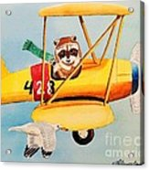 Flying Friends Acrylic Print by LeAnne Sowa