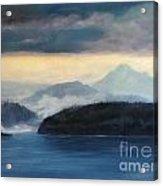 Foggy Day In Anacortes Acrylic Print by Eve McCauley