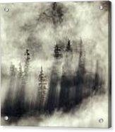 Foggy Landscape Stephens Passage Acrylic Print by Ron Sanford
