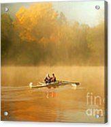 Foggy Morning On The Chattahoochee Acrylic Print by Darren Fisher