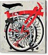 Folded Brompton Bike Acrylic Print by Andy Scullion