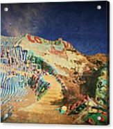 Follow The Yellow Brick Road Acrylic Print by Laurie Search