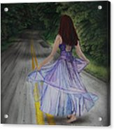 Follow Your Path Acrylic Print by Jackie Mestrom