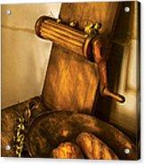 Food -  Bread  Acrylic Print by Mike Savad