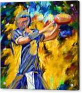 Football I Acrylic Print by Lourry Legarde
