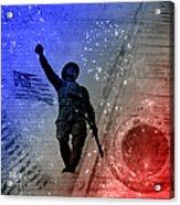 For Freedom Acrylic Print by Fran Riley