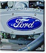 Ford Engine Emblem Acrylic Print by Jill Reger