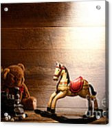 Forgotten Toys Acrylic Print by Olivier Le Queinec