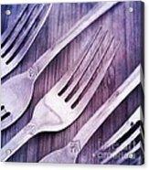 Forks Acrylic Print by Priska Wettstein