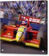 Formula Racing Car At Speed Acrylic Print by Don Hammond