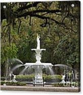 Forsyth Park Fountain - D002615 Acrylic Print by Daniel Dempster