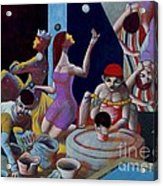 Fortune Sellers Acrylic Print by Paul Hilario
