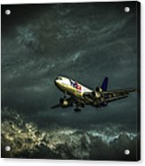Foul Weather Fedex Acrylic Print by Marvin Spates