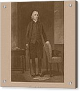 Founding Father Samuel Adams Acrylic Print by War Is Hell Store