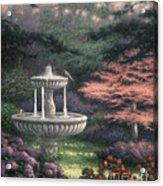 Fountain Acrylic Print by Chuck Pinson