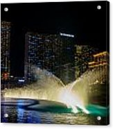 Fountain Spray Acrylic Print by Zachary Cox