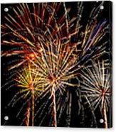 Fourth Of July Fireworks  Acrylic Print by Saija  Lehtonen
