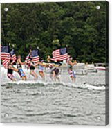 Fourth Of July On The Lake Acrylic Print by Susan Leggett