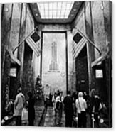 Foyer Of The Empire State Building New York City Acrylic Print by Joe Fox