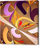 Fractal - Abstract - Space Time Acrylic Print by Mike Savad