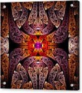 Fractal - Aztec - The Aztecs Acrylic Print by Mike Savad