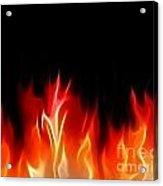 Fractal Flames Acrylic Print by Antony McAulay