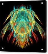 Fractal - Insect - I Found It In My Cereal Acrylic Print by Mike Savad